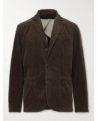 Alex Mill Unstructured Garment-dyed Cotton-corduroy Blazer - Brown