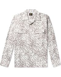 Needles Camp-collar Printed Sateen Shirt - White