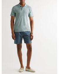 Frescobol Carioca Constantino Cotton And Linen-blend Polo Shirt - Green