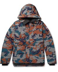 Canada Goose Macmillan Slim-fit Camouflage-print Quilted Arctic Tech Hooded Down Parka - Gray