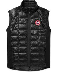 Canada Goose Hybridge Lite Slim-fit Quilted Feather-light 10d Shell And Tensile-tech Down Gilet - Black