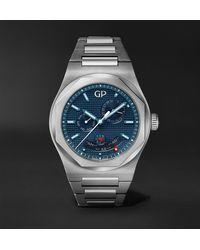 Girard-Perregaux Laureato Perpetual Calendar 42mm Automatic Stainless Steel Watch - Blue