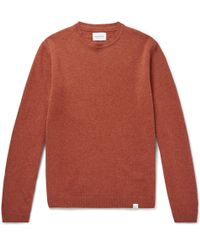 Norse Projects - Sigfried Brushed-wool Jumper - Lyst