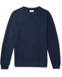 Oliver Spencer - Robin Striped Cotton-jersey Sweatshirt - Lyst
