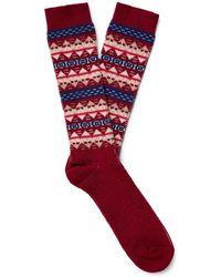 Anonymous Ism - Fair Isle Jacquard-knit Socks - Lyst