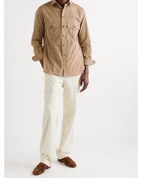 L.E.J Cotton Shirt - Brown