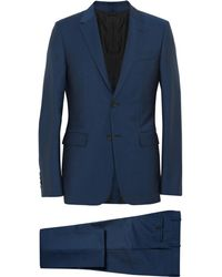 Balenciaga Slim-fit Wool And Mohair-blend Suit - Blue