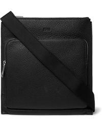 BOSS - Crosstown Full-grain Leather Messenger Bag - Lyst