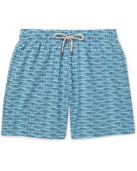 Faherty Brand - Beacon Long-length Printed Swim Shorts - Lyst