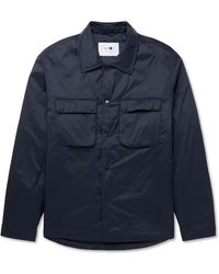 NN07 Columbo Padded Shell Overshirt - Blue