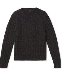 Mp Massimo Piombo Ribbed Merino Wool Sweater - Gray