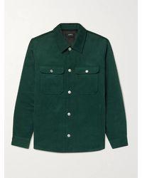 A.P.C. Alex Cotton-corduroy Overshirt - Green