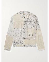 Kapital Patchwork Bandana-print Cotton Jacket - White