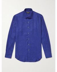 Emma Willis Linen Shirt - Blue