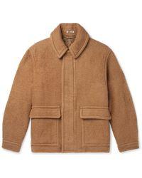 AURALEE Brushed Camel Hair Blouson Jacket - Multicolour