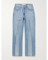 Marni Faded Patchwork Jeans - Blue