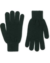 Paul Smith Cashmere And Merino Wool-blend Gloves - Green