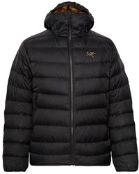 Arc'teryx Thorium Ar Quilted Nylon Hooded Down Jacket - Black