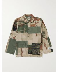 GALLERY DEPT. Patchwork Camouflage-print Cotton-twill Chore Jacket - Green