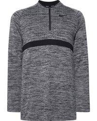 Nike - Mélange Dri-fit Half-zip Golf Top - Lyst