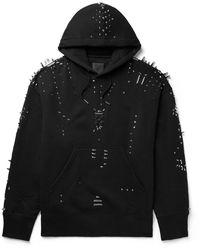 Givenchy Oversized Studded Cotton-jersey Hoodie - Black