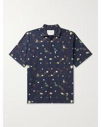 Studio Nicholson Zanza Printed Cotton-poplin Shirt - Blue
