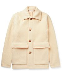 Séfr Keith Brushed Virgin Wool-blend Jacket - Natural