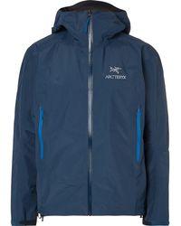 Arc'teryx Beta Sl Gore-tex Hooded Jacket - Blue