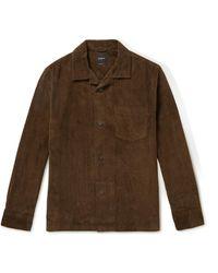 Bellerose Goney Camp-collar Cotton-corduroy Shirt - Brown