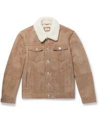 Brunello Cucinelli - Shearling Trucker Jacket - Lyst