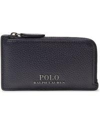 Polo Ralph Lauren - Full-grain Leather Zip-around Cardholder - Lyst