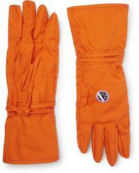 Raf Simons Printed Cotton Gloves - Orange