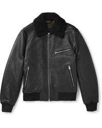 Rag & Bone - Shearling-trimmed Leather Aviator Jacket - Lyst