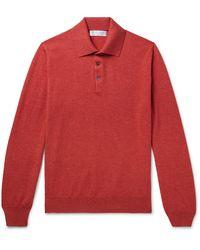 Brunello Cucinelli Cashmere Polo Shirt - Red
