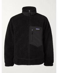 Patagonia Classic Retro-x Shell-trimmed Fleece Jacket - Black