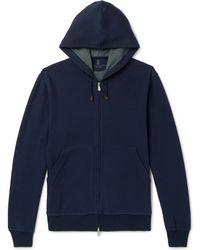 Brunello Cucinelli - Cotton-blend Jersey Zip-up Hoodie - Lyst