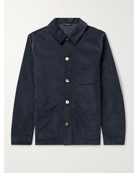 De Bonne Facture Cotton-corduroy Chore Jacket - Blue