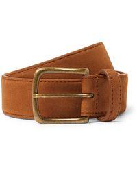 Anderson & Sheppard 3.5cm Suede Belt - Brown