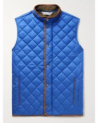 Peter Millar Essex Microfibre-trimmed Quilted Shell Gilet - Blue