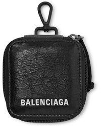 Balenciaga Arena Logo-print Creased-leather Pouch - Black
