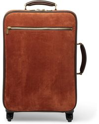 Brunello Cucinelli - Leather-trimmed Suede Carry-on Suitcase - Lyst