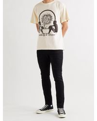Rhude Interstellar Printed Cotton-jersey T-shirt - White