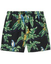 Stella McCartney Long-length Printed Swim Shorts - Black