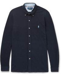 Polo Ralph Lauren - Button-down Collar Cotton-piqué Shirt - Lyst