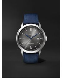 Baume & Mercier Classima Automatic 42mm Stainless Steel And Canvas Watch - Gray