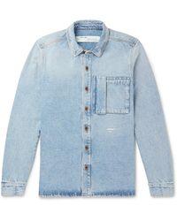 Off-White c/o Virgil Abloh Logo-print Denim Shirt - Blue