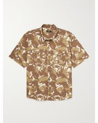 A.P.C. Joey Camouflage-print Cotton-twill Shirt - Brown