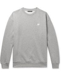 Acne Studios - Forba Logo-appliquéd Mélange Loopback Cotton-jersey Sweatshirt - Lyst