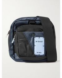 McQ Panelled Shell Messenger Bag - Blue