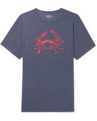 J.Crew - Printed Mélange Cotton-blend Jersey T-shirt - Lyst